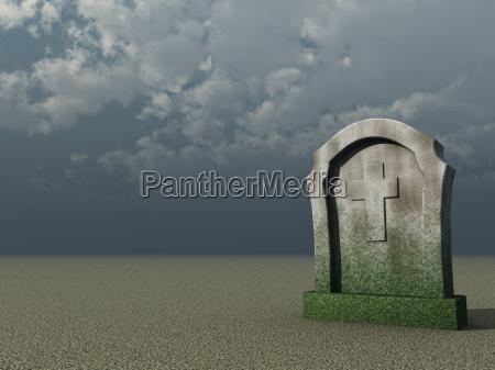 cielo cruz lapida sepulcral entierro cristiano