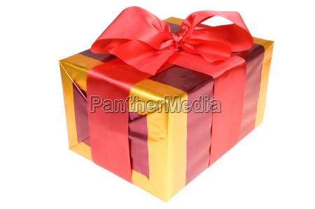 present with red ribbon isolated on