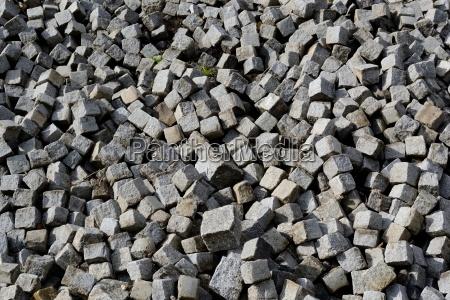 pequenyo pavimento de granito para la