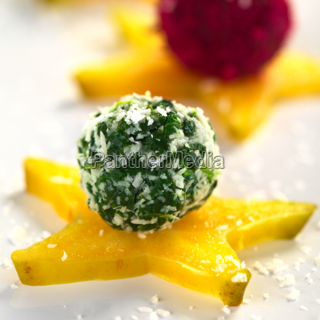 vegetable coconut balls