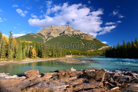 el rio athabasca y el monte