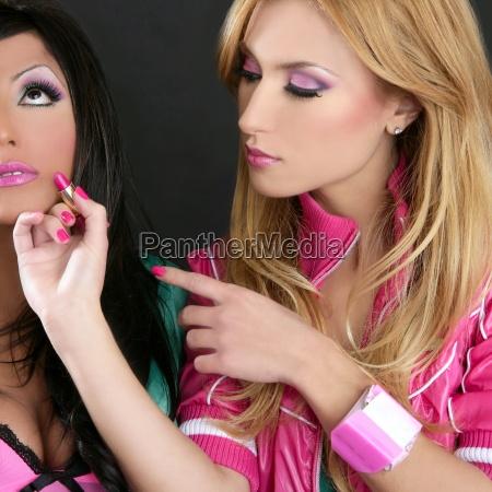 lapiz labial moda ninyas barbie munyeca