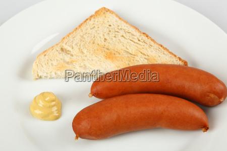 pan delicioso mostaza comida rapida bockwurst