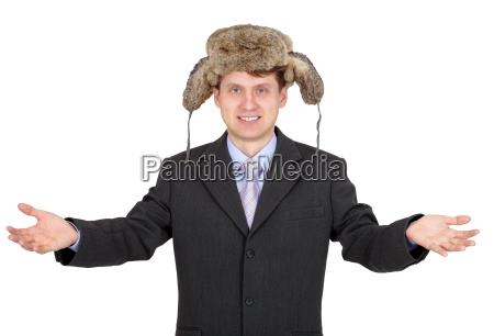 hombre gracioso hospitalario con un sombrero