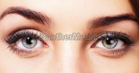 hermosos ojos de una mujer