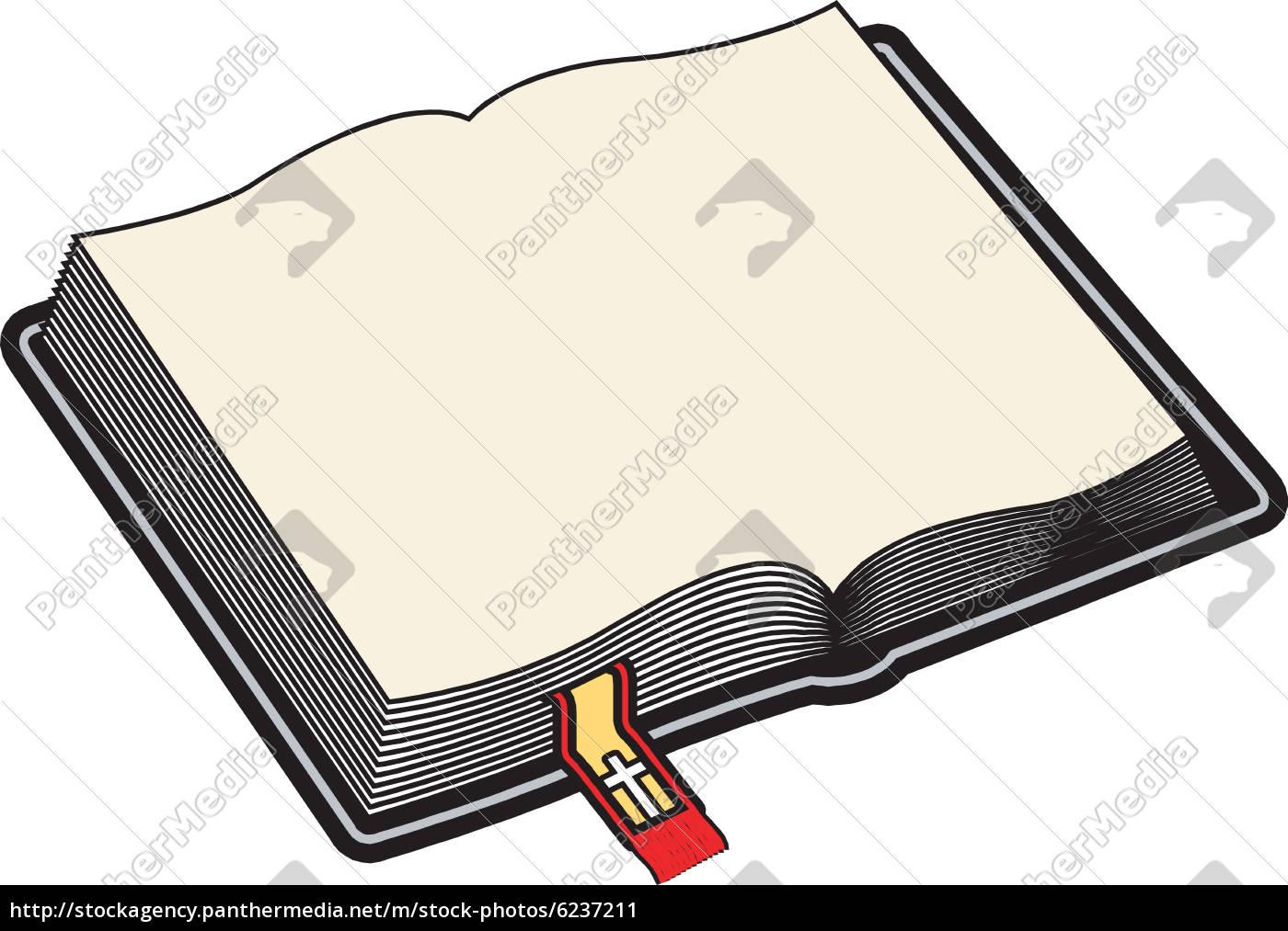 Biblia Abierta En Blanco