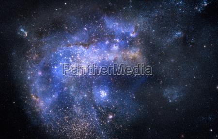 nebulosa nube de gas en el