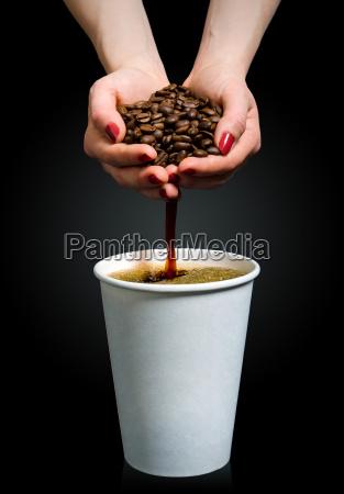 cafe hecho a mano