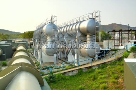 oil tanks and pipes outdoor at