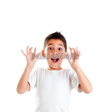 ninyos con gestos de expresion divertida