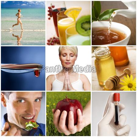 salud estilo de vida collage saludable