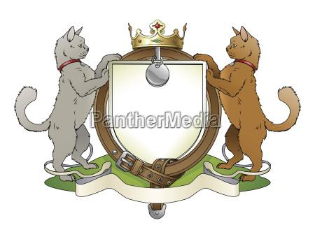 el escudo heraldico de las mascotas