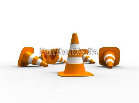 senyal peligro objeto construir liberado color
