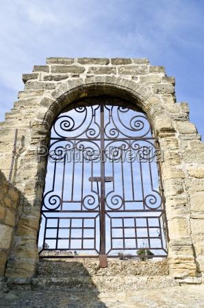 boveda puerta gantry entrada francia medieval
