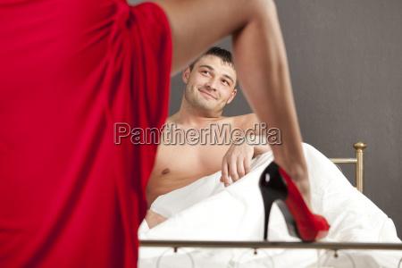 momento seductor para el hombre
