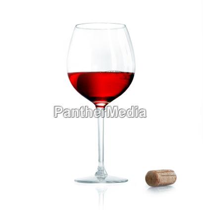 vidrio vaso vino oscuro rojo