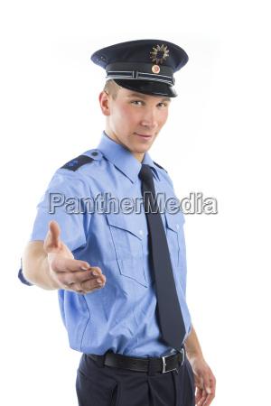 la policia de uniforme