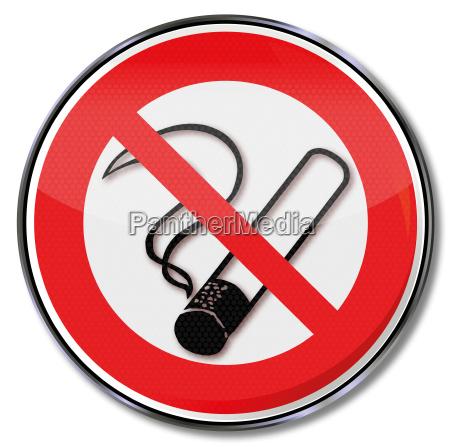 prohibicion de fumar signo