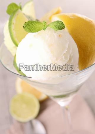 helado de limon
