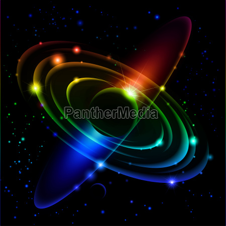 5 del sistema solar abstracto