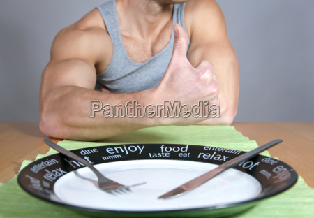 comida musculatura placa biceps comer comiendo