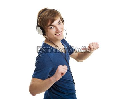 risilla sonrisas escuchar musica auriculares guapo
