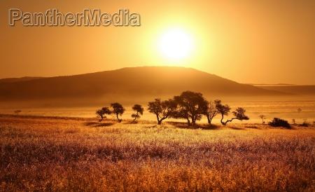 desierto puesta del sol africa namibia