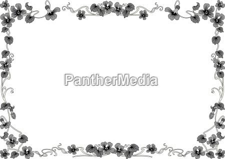 marco historico en gris con adornos