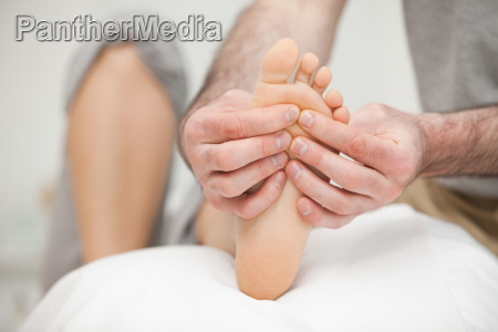sole of a foot being touched