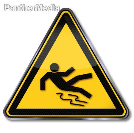 senyal de advertencia de riesgo de