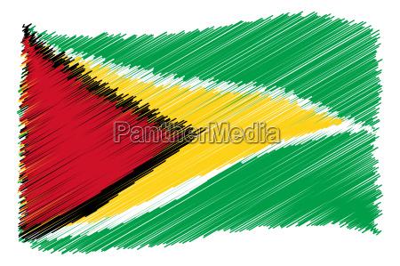 bandera dibujo foto guayana