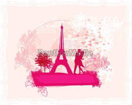 paseo viaje elegancia francia silueta amor