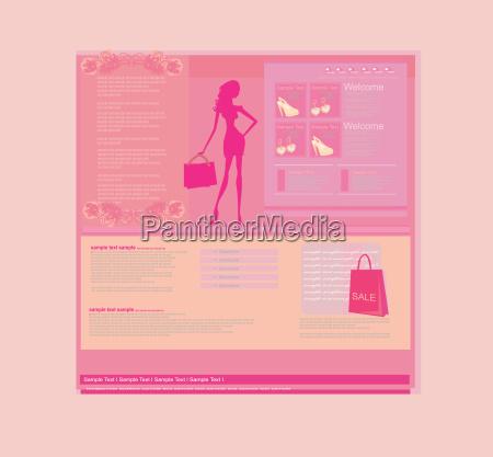 plantilla de sitio web de compras
