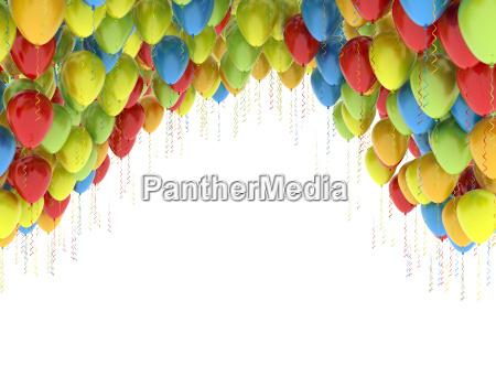 globos de colores fiesta de cumpleanyos