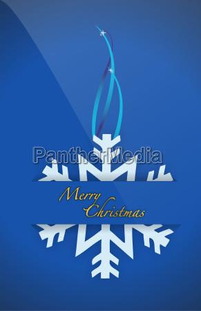 christmas snowflake card pocket folder card