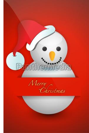 christmas snowman card pocket folder card
