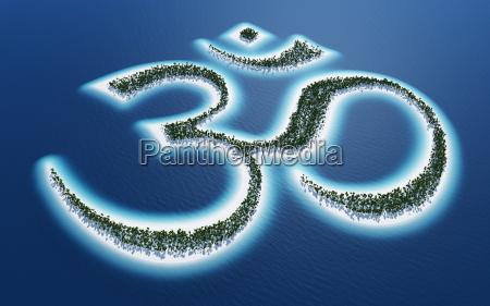 aum om sign island concept