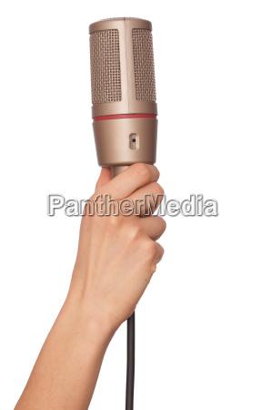 entrevista cantante microfono informe periodista anunciar