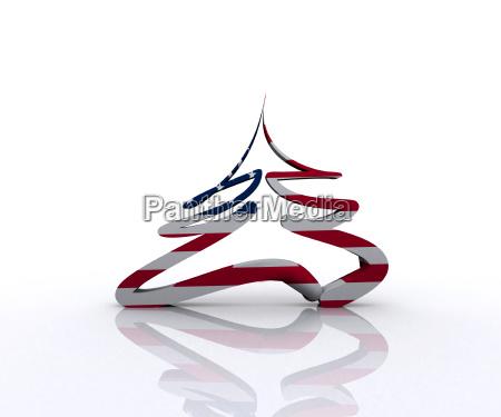 arbol americano eeuu america bandera picea