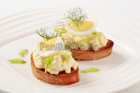 pan tostado y propagacion de huevo