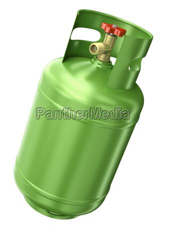 contenedor de gas verde