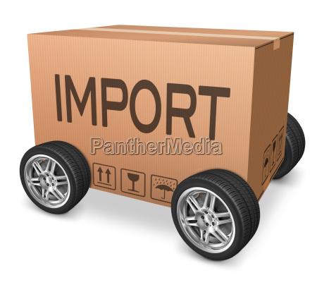 trafico importacion transporte importador internacional introducir
