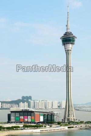 torre hermoso bueno puente puesta del