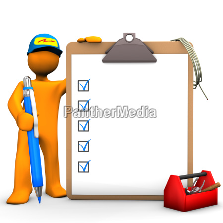 clipboard electrical worker