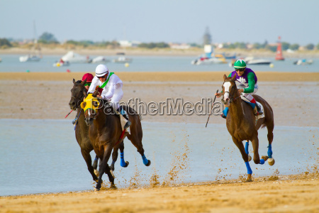 carrera de caballos en sanlucar de