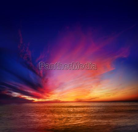 punto loma puesta de sol