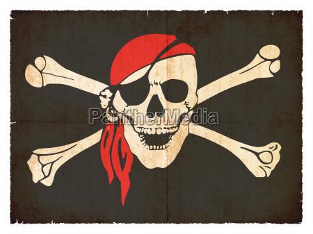 pirantenflagge en el estilo grunge