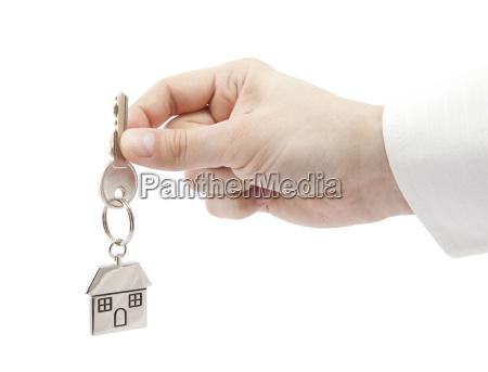 casa construccion mano dedo primer plano
