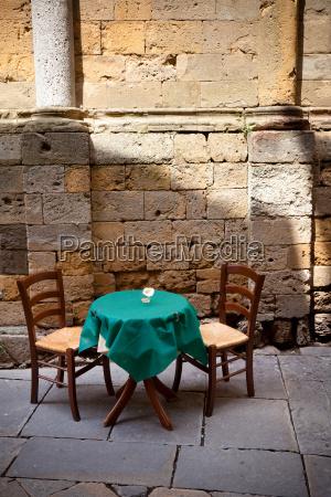 restaurante historico puesta steinalt mesa silla