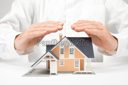 proteger la casa concepto de